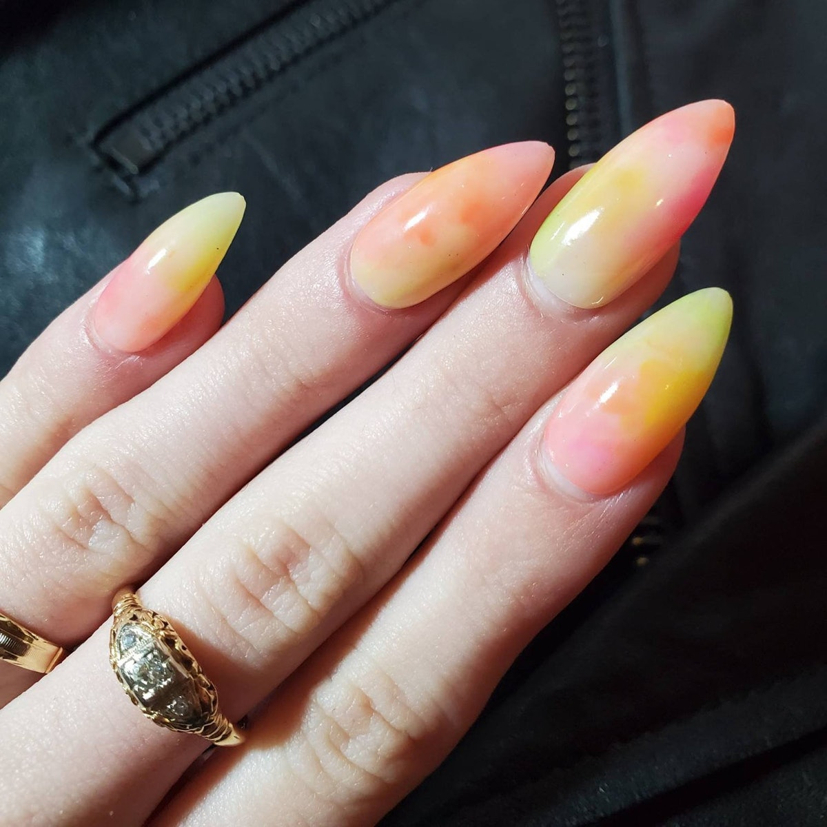 Sherbert watercolor nails to inspire your next mani.