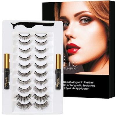 HSBCC 3D Magnetic Eyelashes And Eyeliner Set
