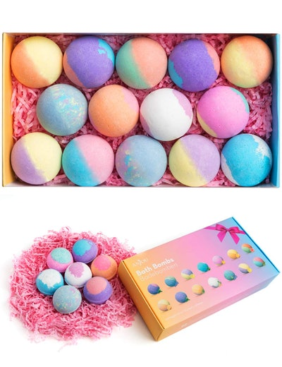 Anjou Bath Bombs Gift Set (14 Pieces)