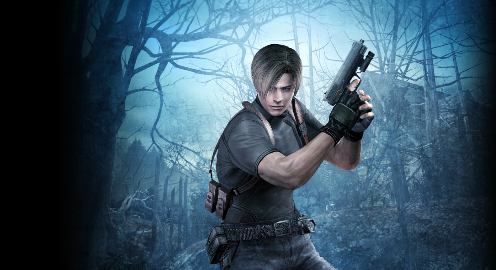 A still from Resident Evil 4 which is being remade for the Oculus Quest 2 in VR. Virtual Reality. Vi...