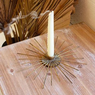 Sunburst Candle Holder Set