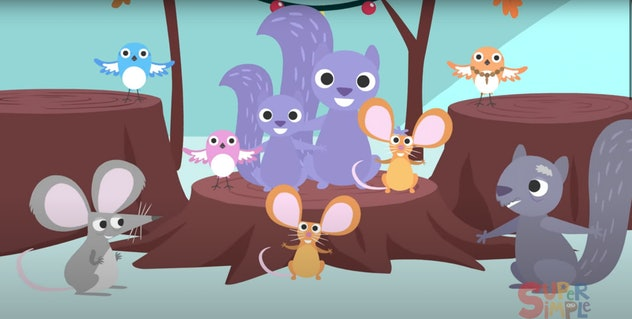 'Treetop Family' is part of the Super Simple series on YouTube