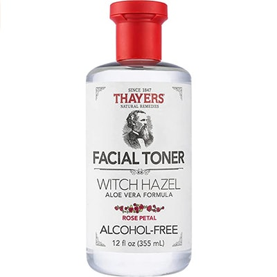 THAYERS Alcohol-Free Rose Petal Witch Hazel Facial Toner with Aloe Vera Formula (12-Ounce)