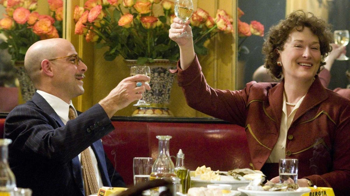 Meryl Streep as Julia Child and Stanley Tucci as Paul Child in Julie & Julia