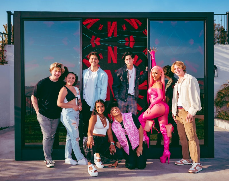 Eight TikTok creators, members of the Hype House, will star in the new Netflix unscripted series. Photo via Netflix
