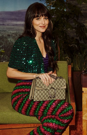 Dakota Johnson from Gucci's Beloved campaign.