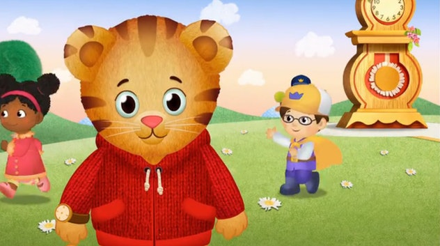'Daniel Tiger's Neighborhood' is a series based on characters created by Fred Rogers.