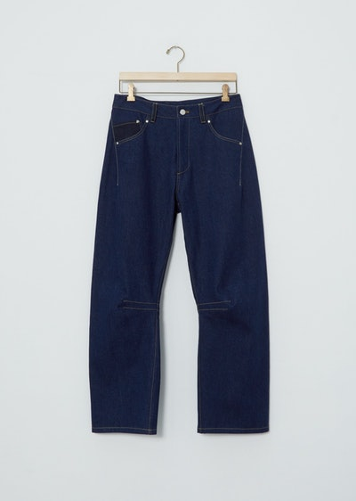Curved Leg Relaxed Jean