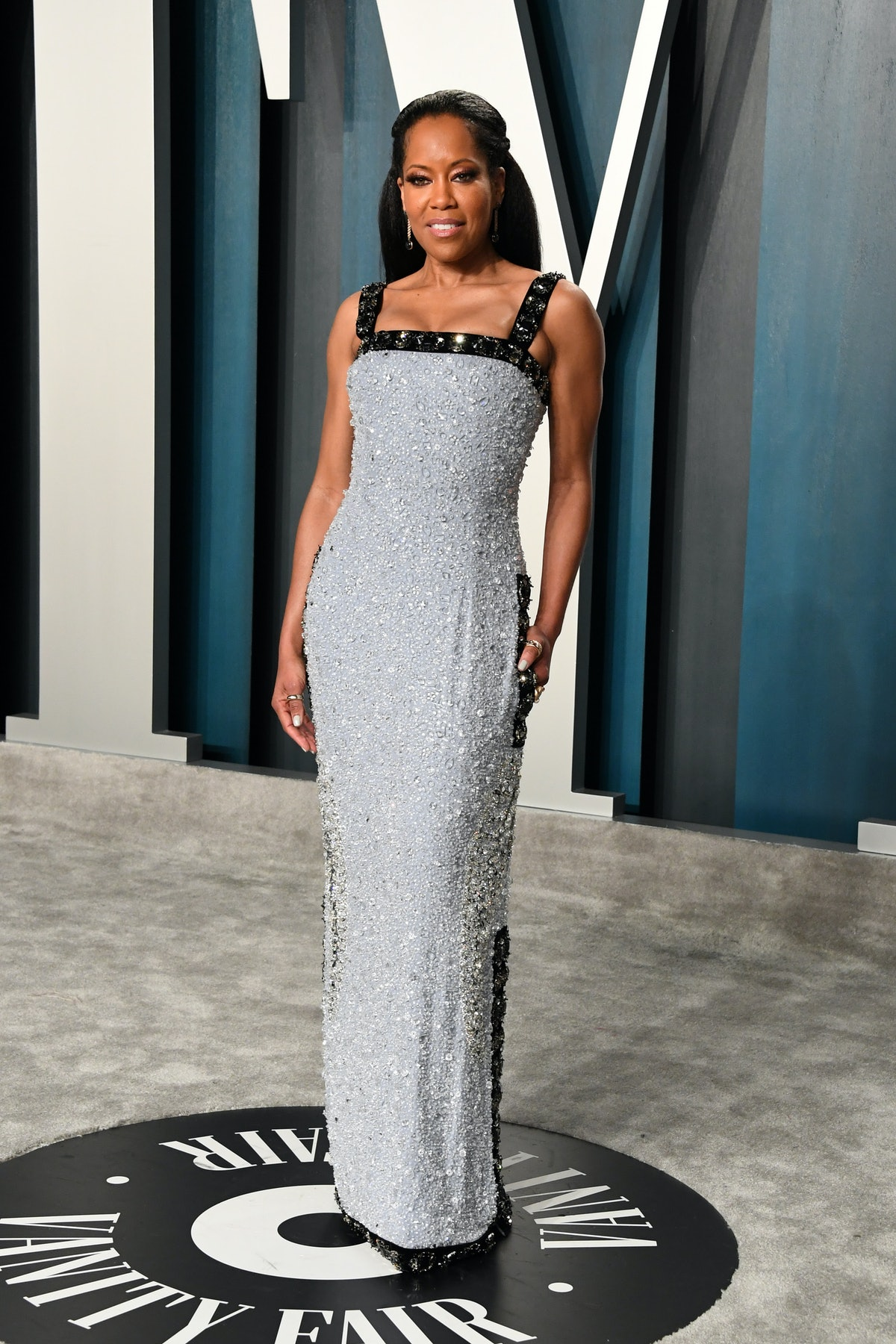 Regina King on Vanity Fair Oscars Party carpet