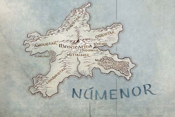 Númenor on the map for Amazon's Lord of the Rings TV series