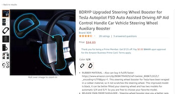 Products available on Amazon fool a Tesla's Autopilot software into thinking a driver's hands are on the steering wheel.