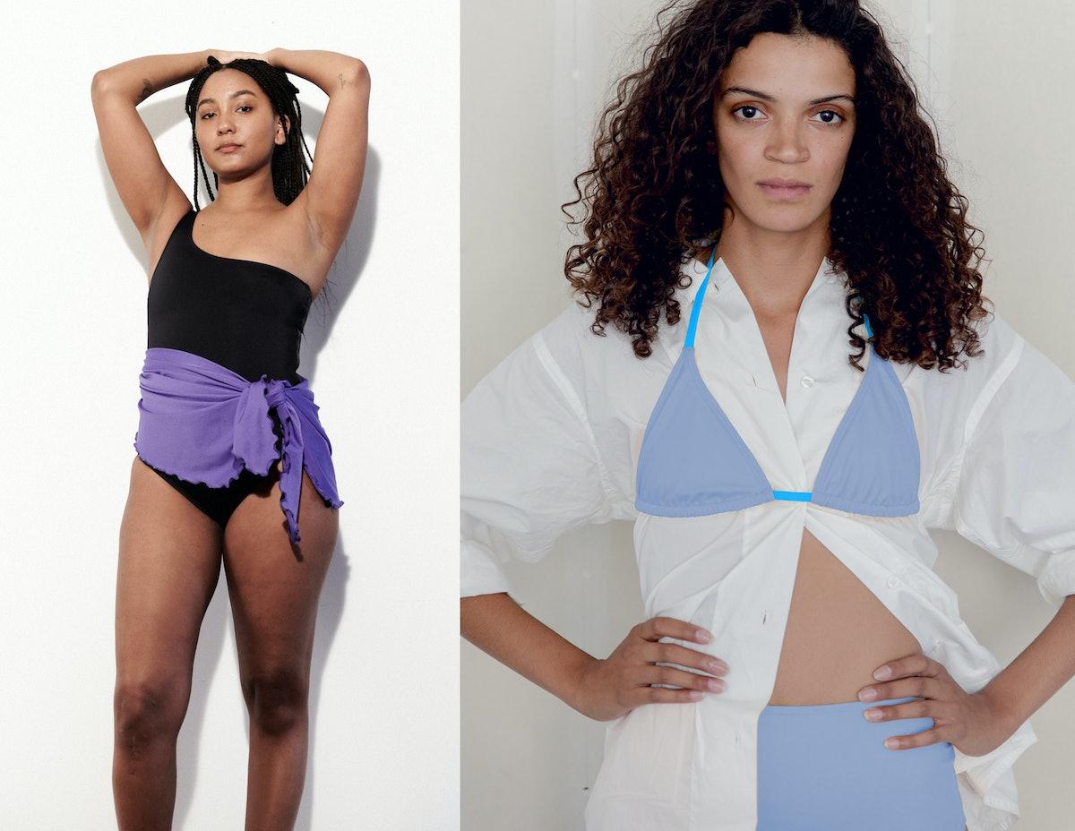 Two swimwear models
