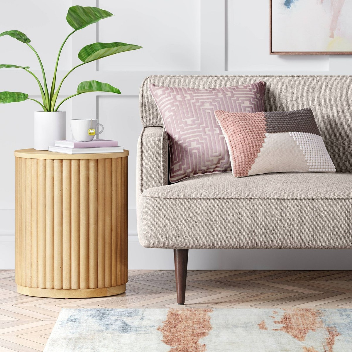 Project 62™ Wood Fluted Drum End Table