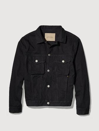 Garment-Dyed Canvas Denim Jacket