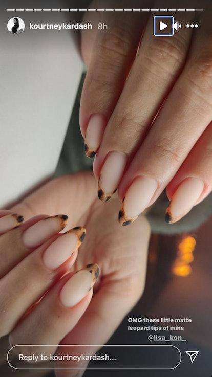kourtney kardashian leopard manicure