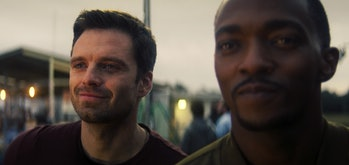 Sebastian Stan and Anthony Mackie in The Falcon and the Winter Soldier Episode 6