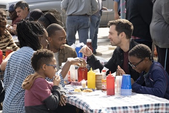Sam, Bucky and friends in 'Falcon and the Winter Soldier'