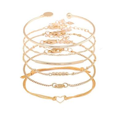 XOCARTIGE Layered Bracelet Set (6-Pack)