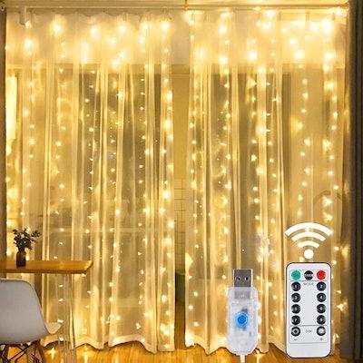 HOME LIGHTING Window Curtain String Lights