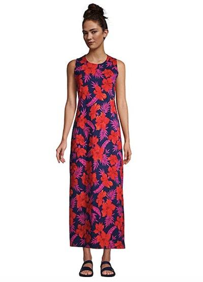 Lands' End Cotton Jersey Sleeveless Maxi Dress