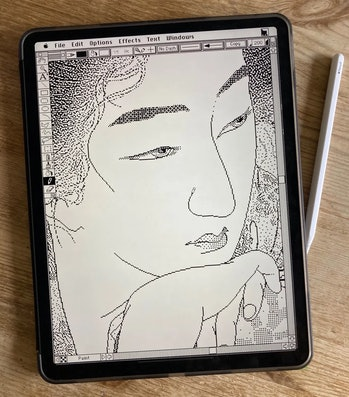 Artist Matt Sephton emulated Mac OS 7 on an iPad.