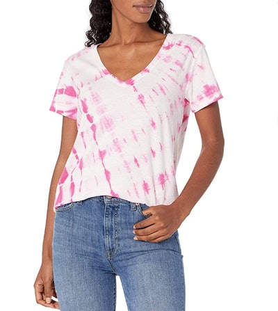 Lucky Brand Short Sleeve V-Neck Printed Essential Tee