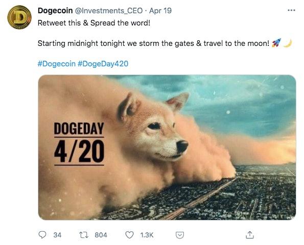 Happy Dogecoin day.