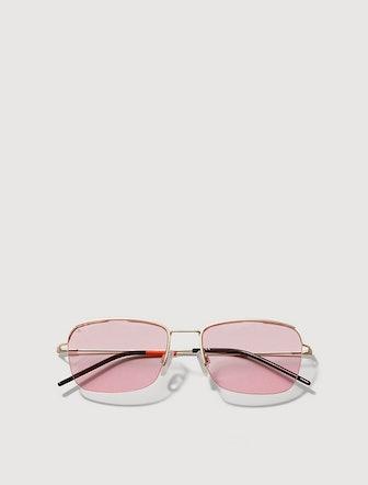 Floating Lens Metal Sunglasses