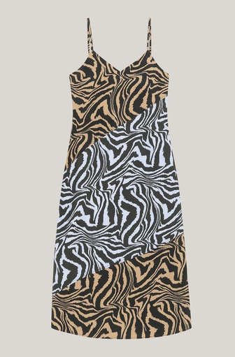 Poplin A-Line Cami Midi Dress