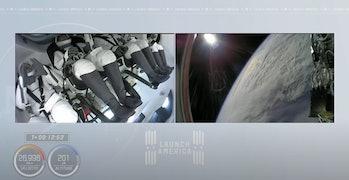 ESA astronaut Thomas Pesquet during the Crew-2 launch.