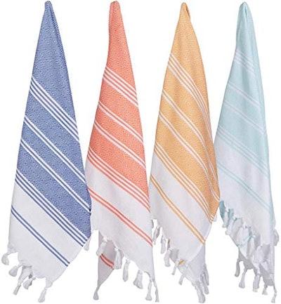Turkish Cotton Face Towel Set  (Set of 4)
