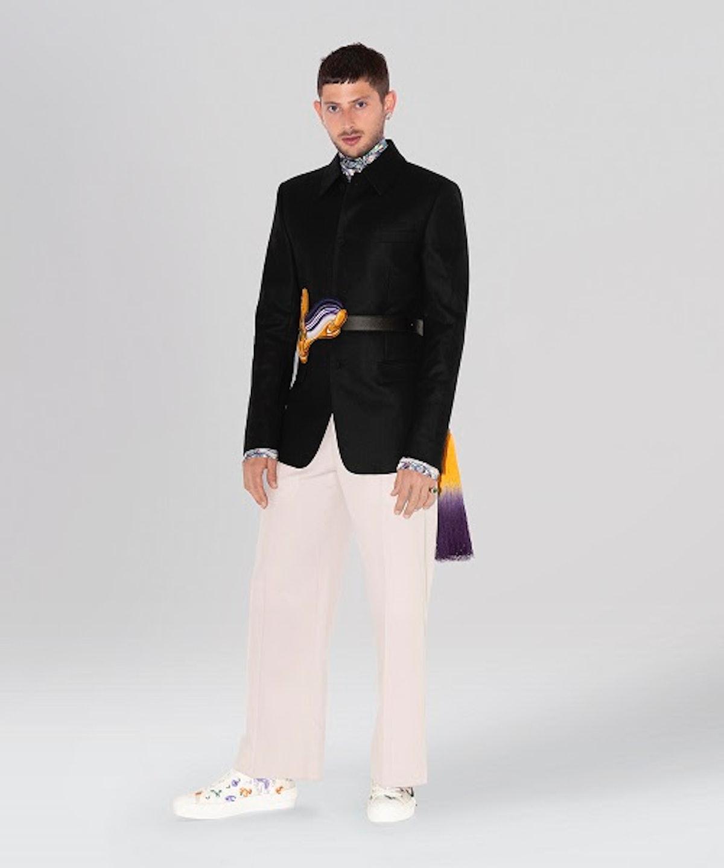 Amrit Rahav in Dior Men