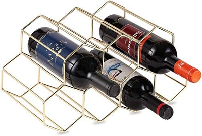 KirinRen Gold Metal Wine Rack