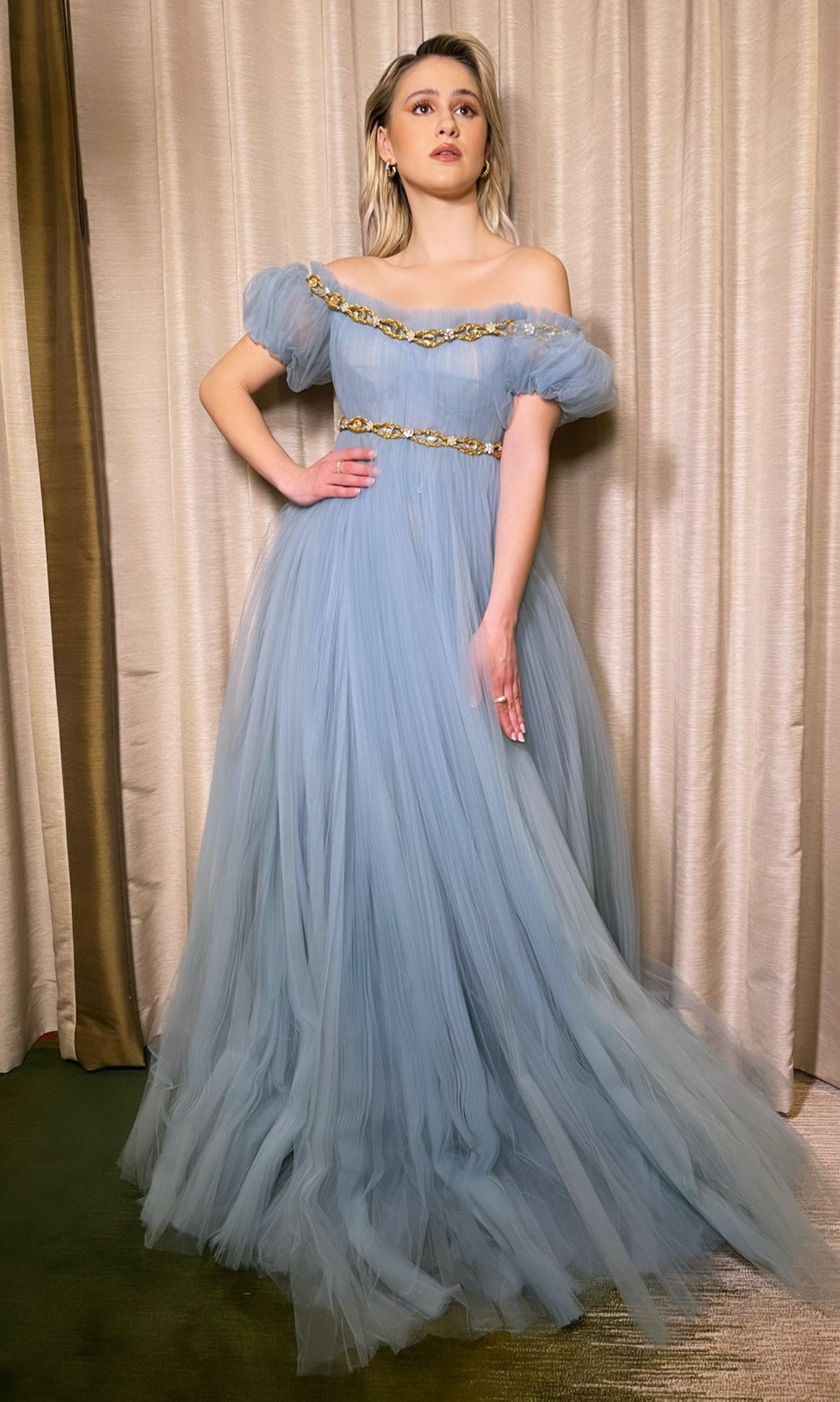 Maria Bakalova in Dolce & Gabbana