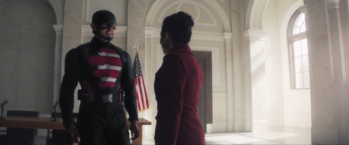 John Walker and Val in The Falcon and the Winter Soldier.