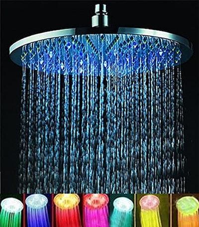 ELENKER 7-Color Rainfall Showerhead