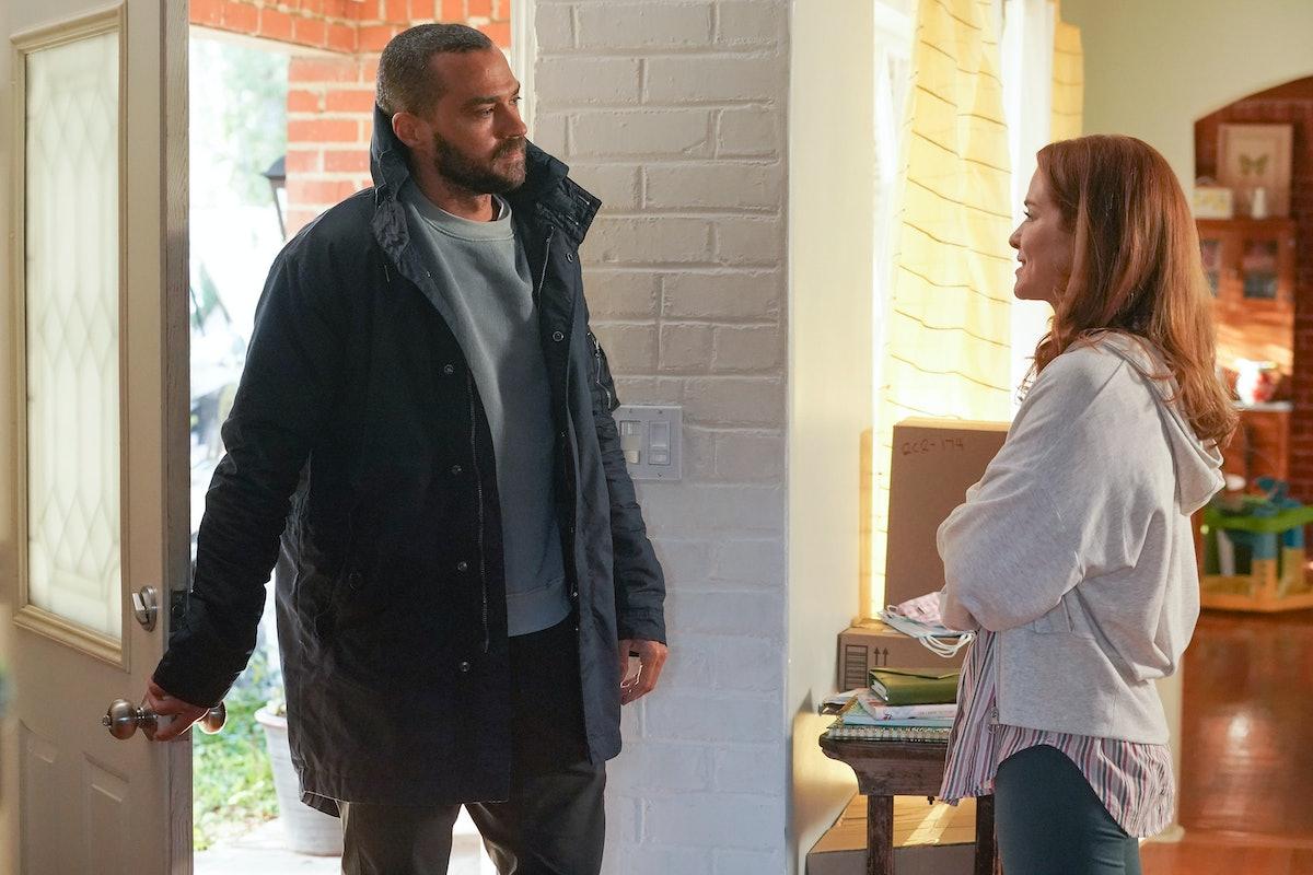 Jesse Williams as Jackson and Sarah Drew as April in Grey's Anatomy Season 17, Episode 14