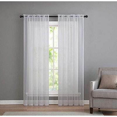 GoodGram Sheer Voile Window Curtain Panels (2-Pack)
