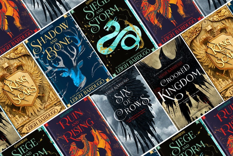 Grishaverse books, including the Shadow and Bone trilogy and the Six of Crows duology.