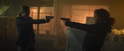 Sharon and Karli had a tense confrontation in the 'Falcon' finale. Screenshot via Disney+