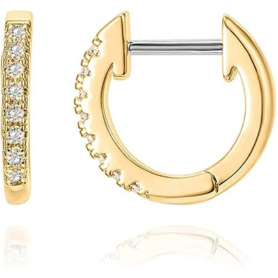 PAVOI 14K Yellow Gold Plated Cubic Zirconia Cuff Earring