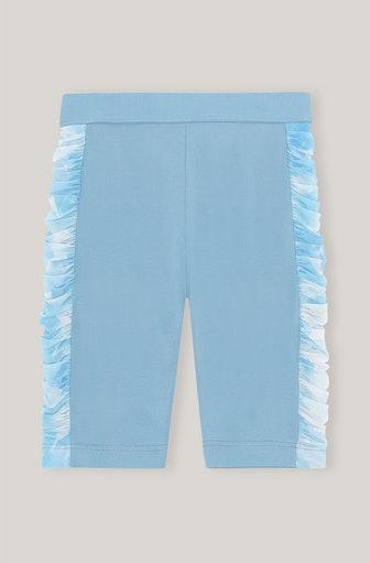 Ruched Mesh Bike Shorts