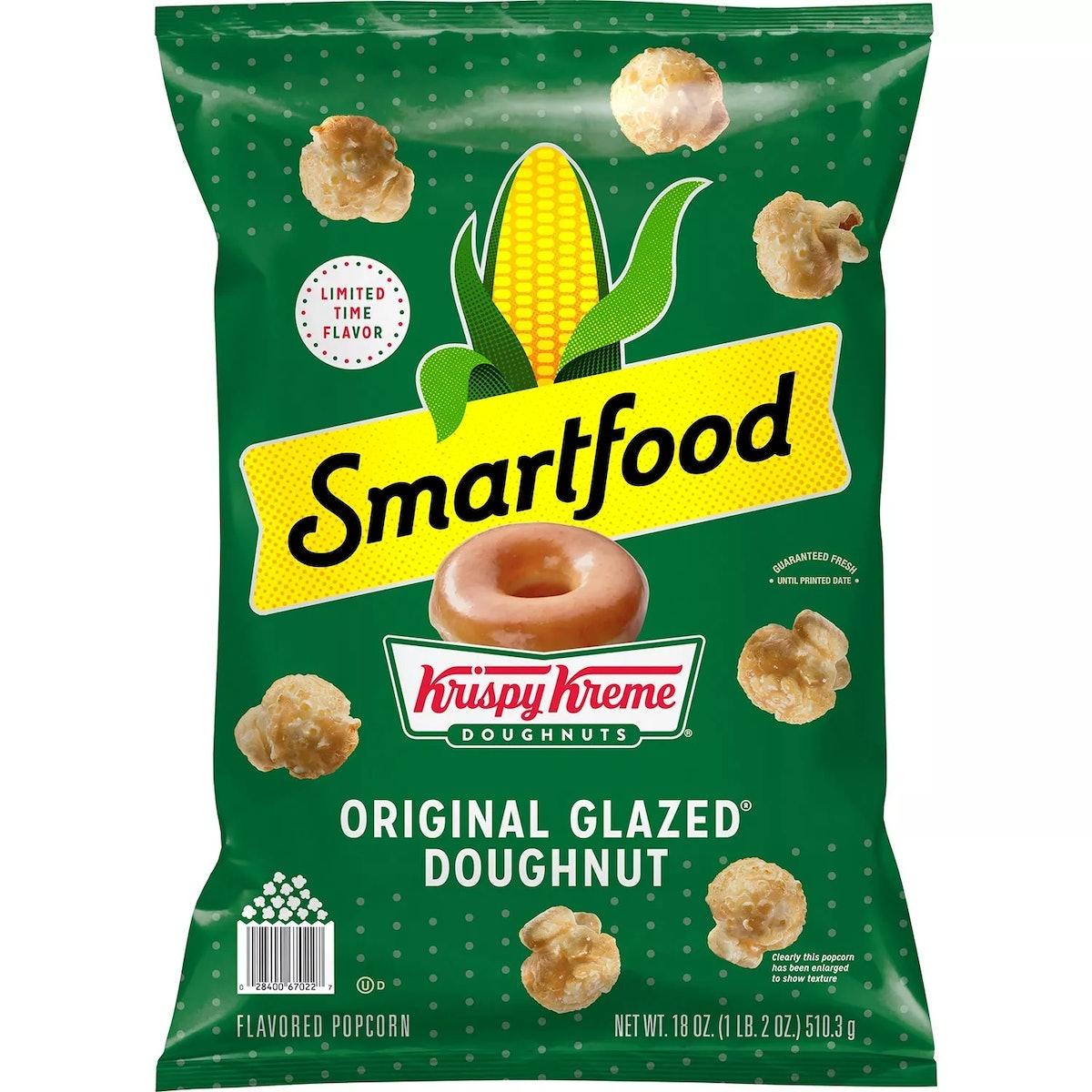 This Smartfood Krispy Kreme Popcorn at Sam's Club tastes like glazed doughnuts.