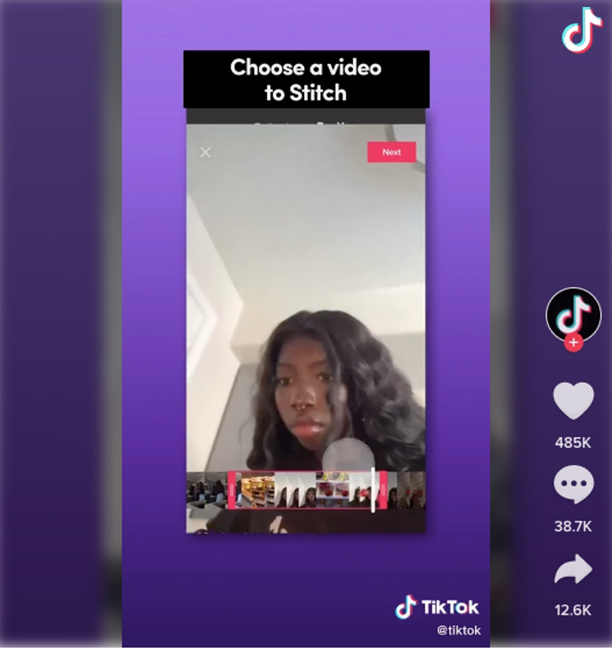 TikTok's Stitch effect lets you get creative with other people's videos.