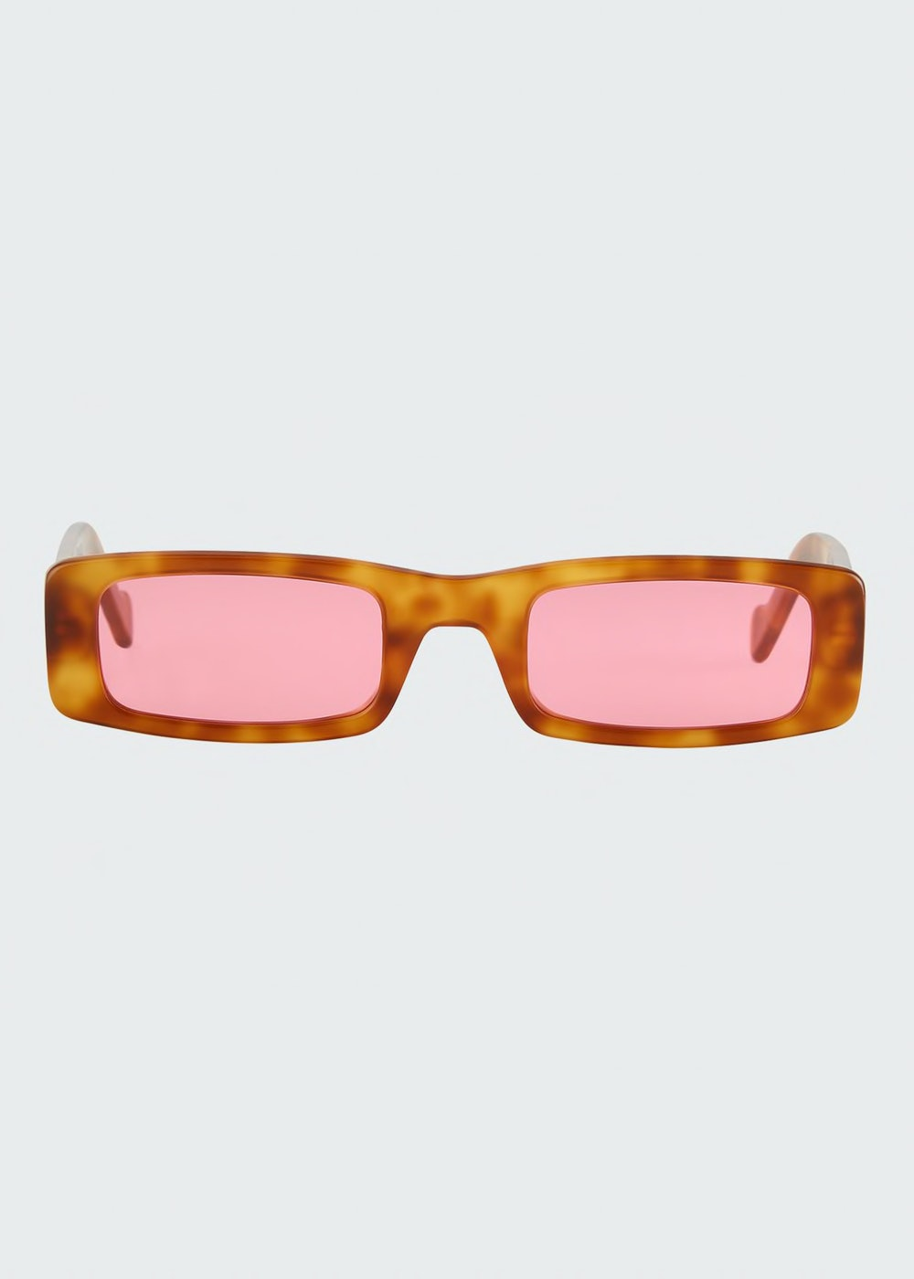 FENTY Trouble Slim Rectangle Acetate Sunglasses