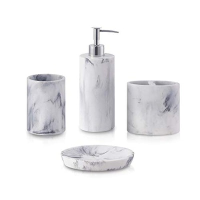 ZCCZ Marble Bathroom Accessory Set (4 Pieces)