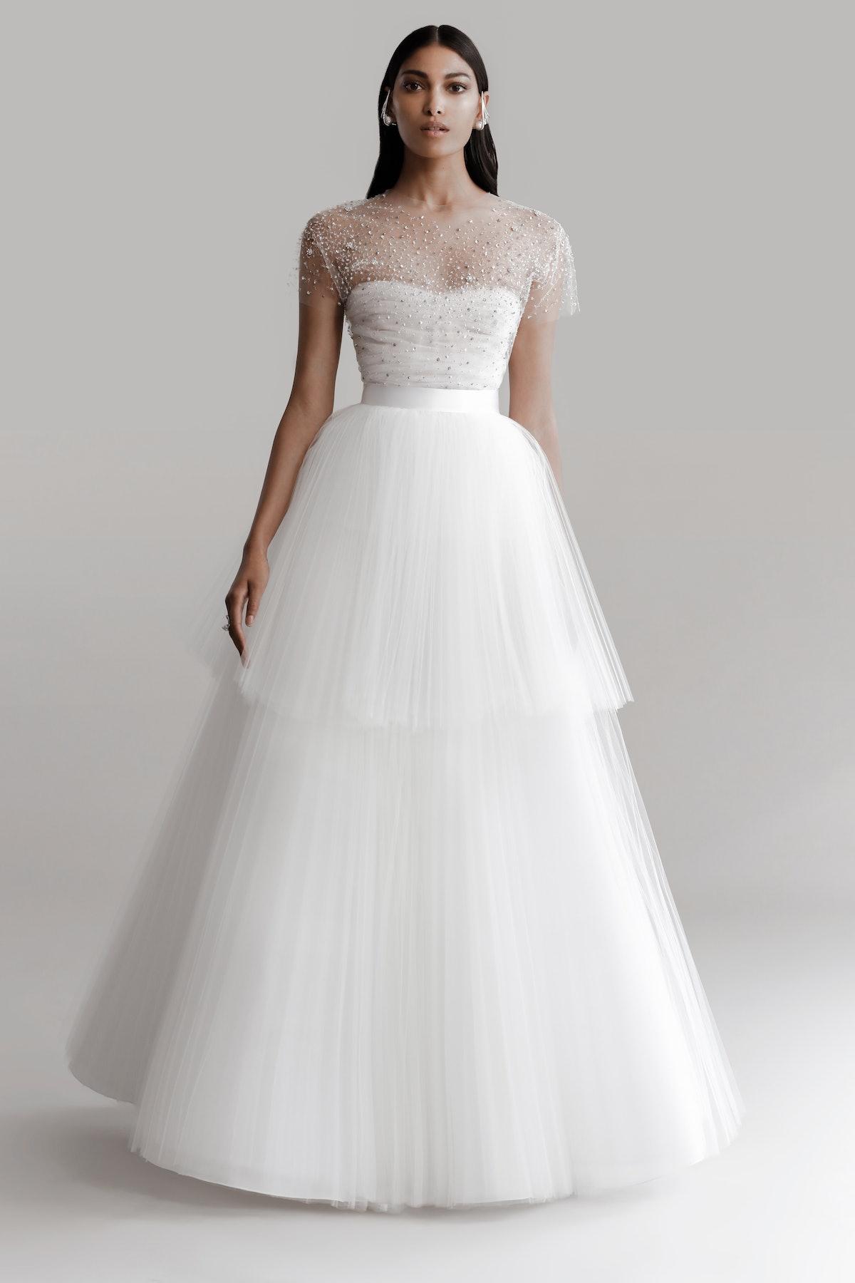 Model wears Prabal Gurung 2022 Bridal Collection.