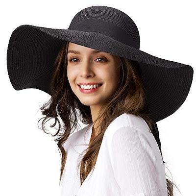 FURTALK Straw Sun Hat  UPF 50