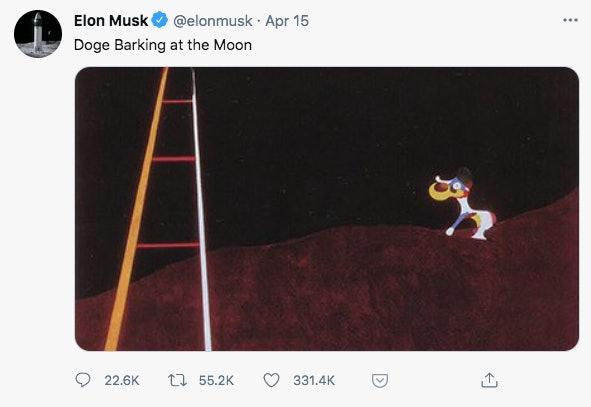 Elon Musk on Dogecoin.