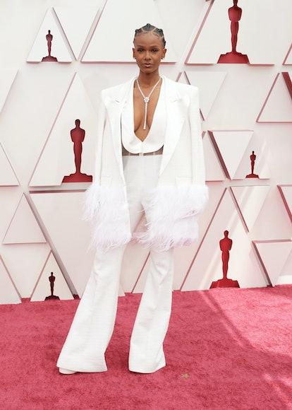 Tiara Thomas at the 2021 Oscar Awards